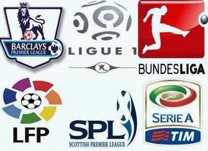 i loghi dei più popolari tornei di calcio