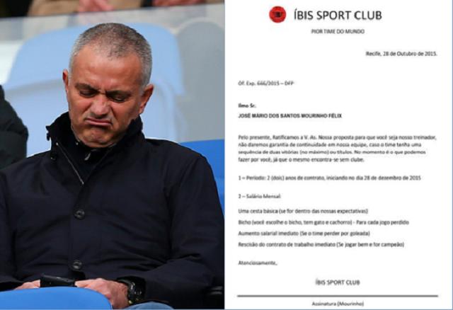 Mourinho e la proposta indegna
