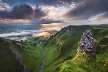 Un classico paesaggio del Derbyshire