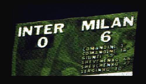 il tabellone di san siro inter milan 0-6