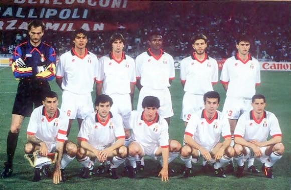 la formazione del Milan ad Atene 1994