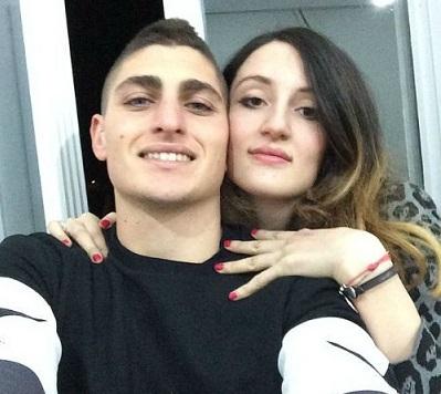 Marco Verratti e la moglie Laura