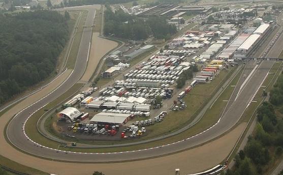 il rettilineo finale del circuito di Brno