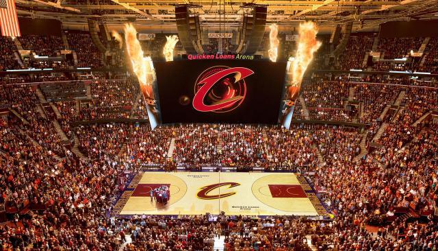 l'arena dei Cleveland Cavs